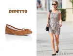 Nicky Hilton's Repetto Suede Ballerina Flats