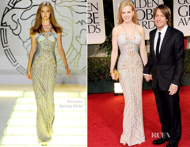 a00aeb81a0 Nicole Kidman In Versace - 2012 Golden Globe Awards - Red Carpet ...