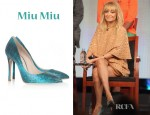 Nicole Richie's Miu Miu Python-Effect Leather Pumps