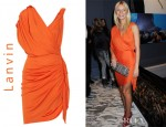 Gwyneth Paltrow's Lanvin Draped Crepe-Jersey Dress