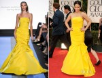Paula Patton In Monique Lhuillier - 2012 Golden Globe Awards