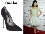 Rachel Bilson's Casadei Pin Heel Stiletto Pumps