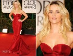 Reese Witherspoon In Zac Posen - 2012 Golden Globe Awards