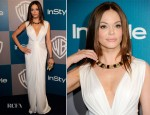 Rose McGowan In Blumarine - Warner Bros. & InStyle Golden Globe Awards Party