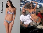 Rosie Huntington-Whiteley's Zimmermann Dreamer Mismatched Bikini