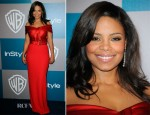 Sanaa Lathan In St. John - Warner Bros. & InStyle Golden Globe Awards Party