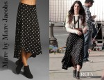 Shenae Grimes' Marc by Marc Jacobs Georgia Dot Jersey Skirt