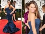 Sofia Vergara In Vera Wang - 2012 Golden Globe Awards