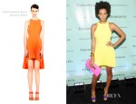 Solange Knowles In Christopher Kane - Tiffany Celebrates The Launch Of 'True Love In Pictures'
