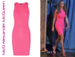 Stacy Keible's McQ Alexander McQueen Ribbed Jersey Tank Dress