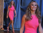 Stacy Keibler In McQ Alexander McQueen - Late Night with Jimmy Fallon
