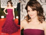 Tina Fey In Oscar de la Renta - 2012 Golden Globe Awards