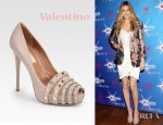 Whitney Port's Valentino Rockstud Open Toe Pumps