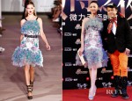 Yao Chen In Prabal Gurung - Sina Microblogging Event