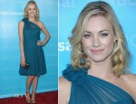 Yvonne Strahovski In Pamella Roland - NBC Winter TCA Press Tour All-Star Party