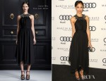 Zoe Saldana In Jason Wu - 'Kick Off To The 2012 Golden Globes' Event hosted by Audi and Martin Katz