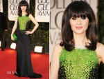 Zooey Deschanel In Prada - 2012 Golden Globe Awards