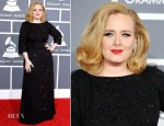 Adele In Giorgio Armani - 2012 Grammy Awards