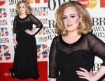 Adele In Burberry - 2012 Brit Awards