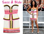 Alesha Dixon's Sass & Bide Pick 'n' Mix Embroidered Strapless Dress