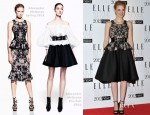 Jessica Chastain In Alexander McQueen - 2012 Elle Style Awards