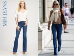 Ali Larter's MiH Marrakesh Mid Rise Kick Flare Jeans
