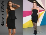 Allie Gonino's Alice + Olivia Mary Strapless Peplum Dress