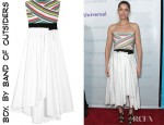 Amanda Peet's Boy by Band of Outsiders Strapless Cotton Poplin Dress