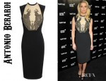 Amber Heard's Antonio Berardi Crystal Embellished Crepe Dress