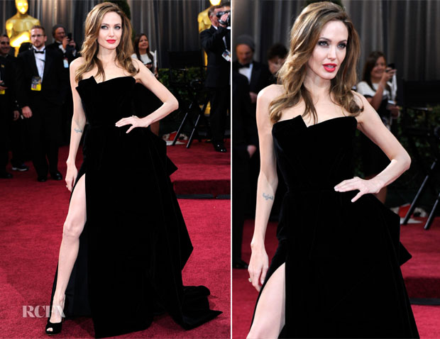 Angelina Jolie In Atelier Versace - 2012 Oscars - Red Carpet Fashion ...