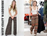 AnnaLynne McCord's West Coast Wardrobe Zig Zag Wide Leg Pants