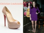 Ashley Greene's Christian Louboutin Lady Peep Patent Leather Platform Pumps