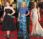 Best Dressed Of The Week - Emma Stone In Alexander McQueen, Rachel McAdams In Peter Som & Lea Michele In Atelier Versace