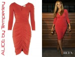 Beyonce's ALICE by Temperley Molina Ruched Jersey Dress