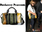 Beyonce's Burberry Prorsum Raffia & Leather Satchel