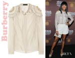 Brandy's Burberry Silk And Cotton Organza Blouse