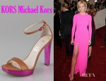 Brooklyn Decker's KORS Michael Kors Ysabel Ankle Strap Platform Sandals