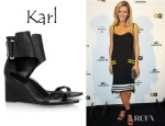 Brooklyn Decker's Karl Woven Patent Leather Wedge Sandals