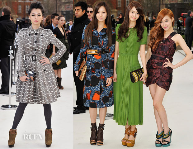 7a6e62b913f3 The front row of the Burberry Prorsum Fall 2012 show was jam packed with  celebrities from all over the world