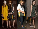 Celebrities Love...Burberry Prorsum's Tonal Raffia Bowling Bag