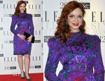 Christina Hendricks In Vintage Carolina Herrera - 2012 Elle Style Awards