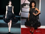 Corinne Bailey Rae In Christian Siriano - 2012 Grammy Awards