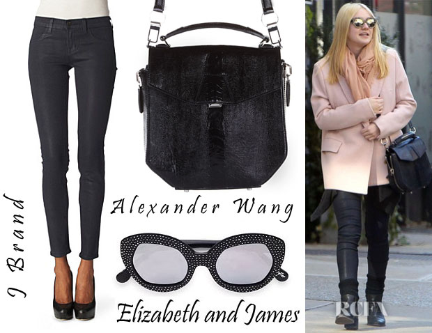 Dakota Fanning Alexander Wang, J Brand Elizabeth and James