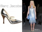 Dakota Fanning's Marc Jacobs Laminated Leather Mary Jane Pumps