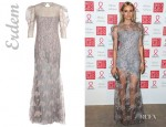 Diane Kruger's Erdem Pandora Floor Length Floral Lace Dress