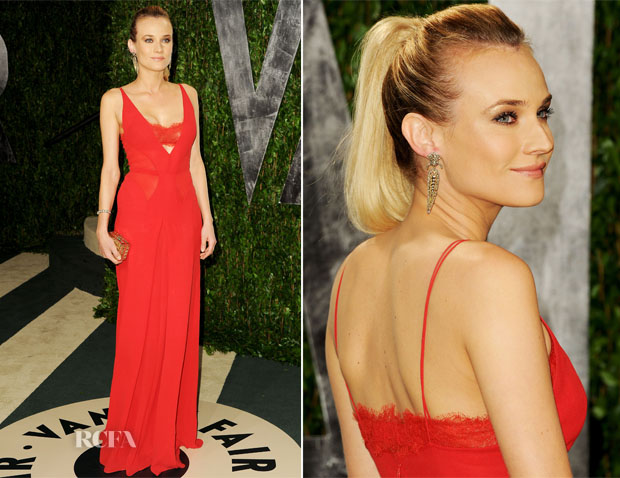 055a0d39 Diane Kruger In Calvin Klein – 2012 Vanity Fair Oscar Party - Red ...