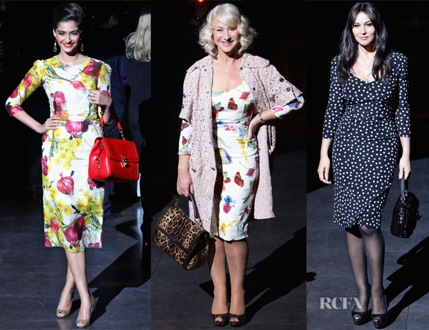 e13c96031073 The front row at Dolce   Gabbana shows are just as anticipated as the  collection itself.