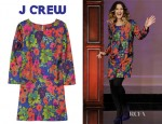Drew Barrymore's J Crew Jules Floral Print Silk Dress