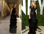 Elizabeth Olsen In Christian Dior – 2012 Vanity Fair Oscar Party
