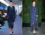 Elizabeth Olsen In Chanel Couture - Chanel and Charles Finch Pre-Oscar Dinner